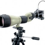 Nikon spotting scope with Coolpix camera for digiscoping